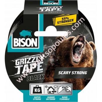 Υφασμάτινη Επισκευαστική Ταινία Μαύρη Bison Grizzly Tape 10m 6314096