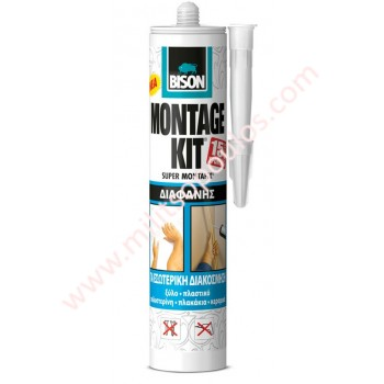 Κόλλα Bison Montage Kit Διάφανη 310gr
