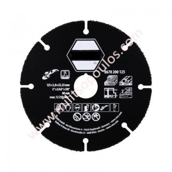Δίσκος Κοπής Ξύλου Stayer VB Multimaterial 125mmxØ22.2mm